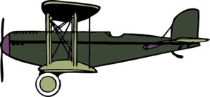 Green And Purple Biplane Clip Art