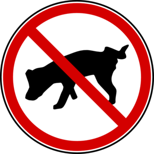 Dog - No Peeing! Clip Art