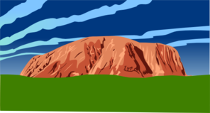 Red Rocks And Green Grass Clip Art