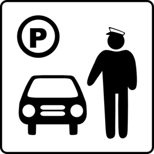 Hotel Icon Has Parking Attendant Clip Art