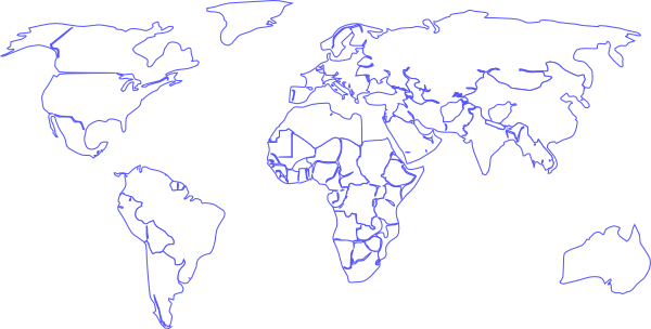 World Map Outline Png Black Purple Outline W...