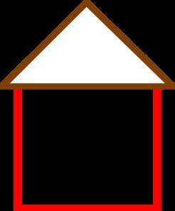 House Outline Clip Art At Clker Com Vector Clip Art