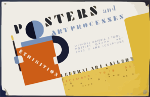 Posters And Art Processes Methods Materials Tools: Posters - Graphic Art Fresco And Sculpture. Clip Art