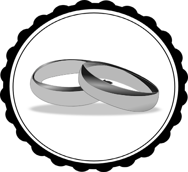 download this image as - Wedding Rings Clipart