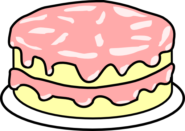 Free Clipart Birthday Cake Pictures : Cake Pink Icing Clip Art at Clker.com - vector clip art ...