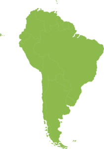 Continent Of South America Green Clip Art
