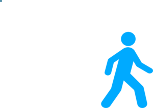 Walking Man Blue Clip Art at Clker.com - vector clip art online ...