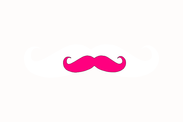 pink mustache png