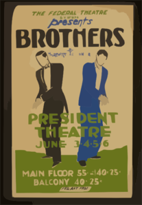 The Federal Theatre Div. Of Wpa Presents  Brothers  By Herbert Ashton Jr. Clip Art