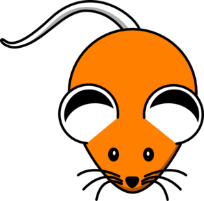 Orange Mouse Black Ears Clip Art