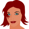 Red Headed Woman Clip Art