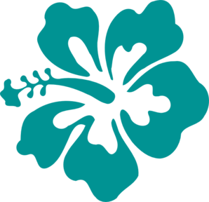 Hibiscus Teal Green Clip Art