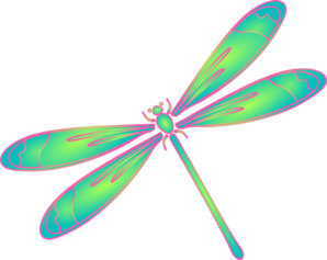 dragonfly in flight blue green pink clip art at clker com vector rh clker com clip art dragonfly outline only clip art dragonfly silhouettes