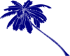 Blue Palm Tree Clip Art