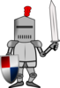 Knight In Armor With Shield And Sword Clip Art