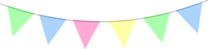Green Blue Pink Yellow Bunting Clip Art