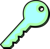 Aqua Green Key Clip Art