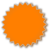 Starburst Orange Clip Art