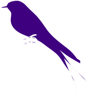 Purple Finch On A Branch Clip Art