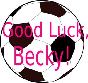 Good Luck Becky Clip Art