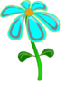 Flower Blue Cartoon Clip Art
