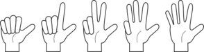 Finger Digits Clip Art