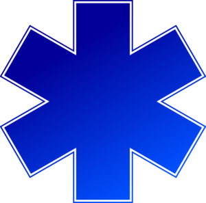 Blue Medical Cross Clip Art