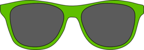 Green Glasses Clip Art