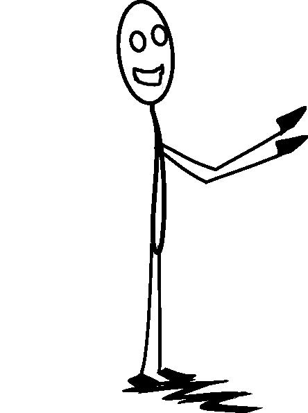 Smiley Stick Man Clip Art Vector Online Royalty Free