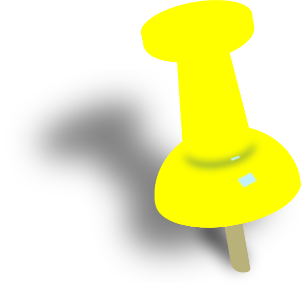 yellow pin clipart - photo #3