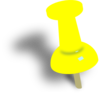 Yellow Push Pin Clip Art
