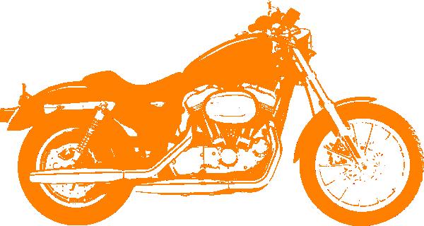 Orange Motor Cycle Harley Davidson Clip Art at Clker.com ...