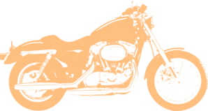 Orange Motor Cycle Harley Davidson Clip Art