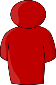 Person Buddy Symbol Red Clip Art
