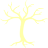 Bare Tree Yellow Clip Art