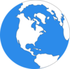 Blue Earth Icon 2 Clip Art