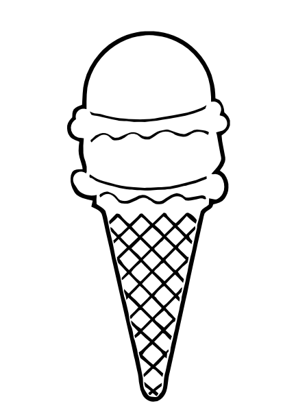 Line Art Ice Cream : Ice cream cone outline clip art at clker vector