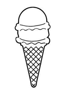 Ice Cream Cone Outline Clip Art