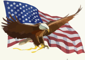 Eagle And Flag Clip Art