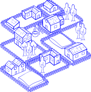 Mixed Use Blue Clip Art