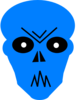 Blue Angry Clip Art