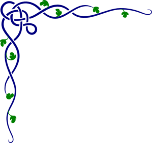 Celtic Vines Colored Clip Art