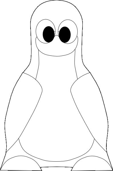 Penguin Outline Clip Art At Clker Com Vector Clip Art