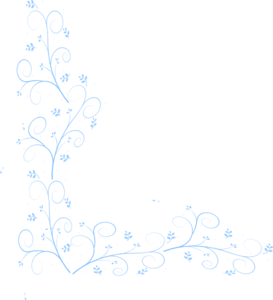 Flowers In Blue Clip Art