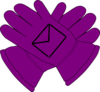 Purple Gloves Envelope Clip Art