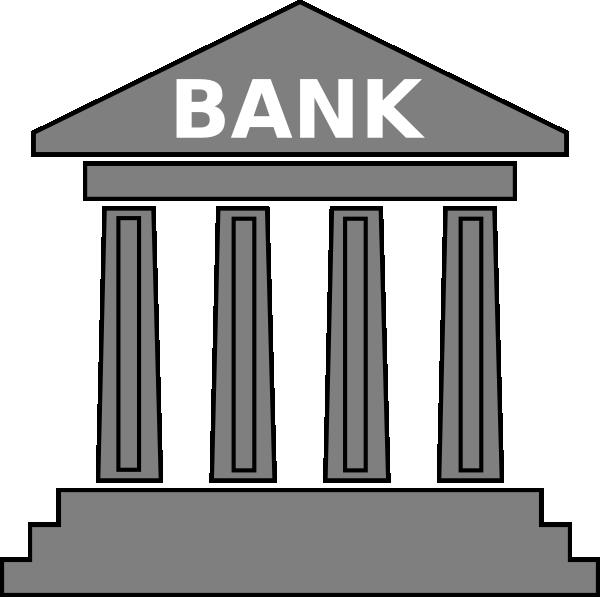 bank gray clip art at clker com vector clip art online banking clip art free images banking cliparts images