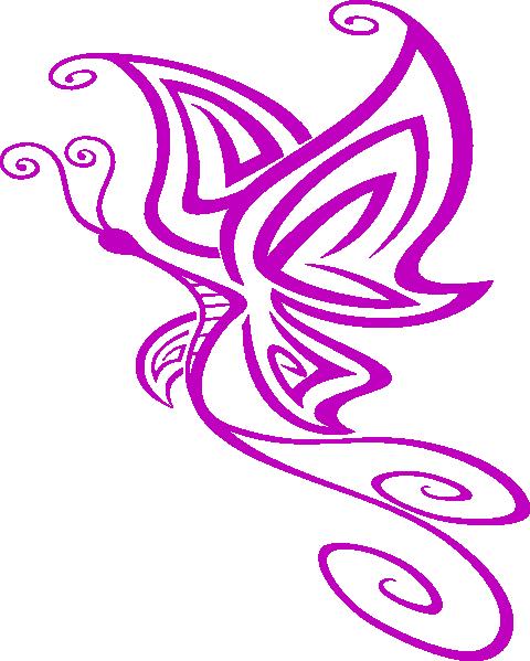 small purple butterfly clip art at clkercom vector clip