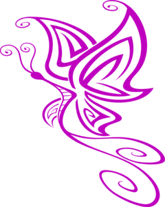Small Purple Butterfly Clip Art