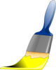 Paintbrush Yellow Clip Art