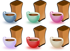 Coffee Cups And Bean Clip Art